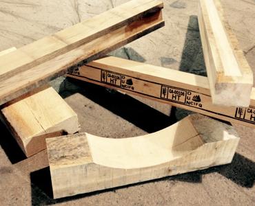 Patins et blocages en bois variés - Bois Laurentide