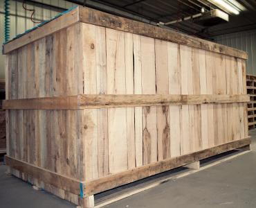 Boîte de bois carré - Bois Laurentide