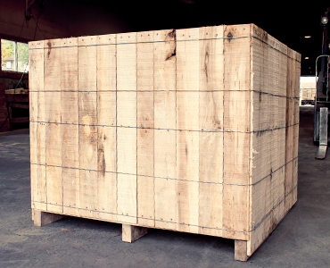 Wirebound Wooden Crates - Products - Laurentide Lumber Co.