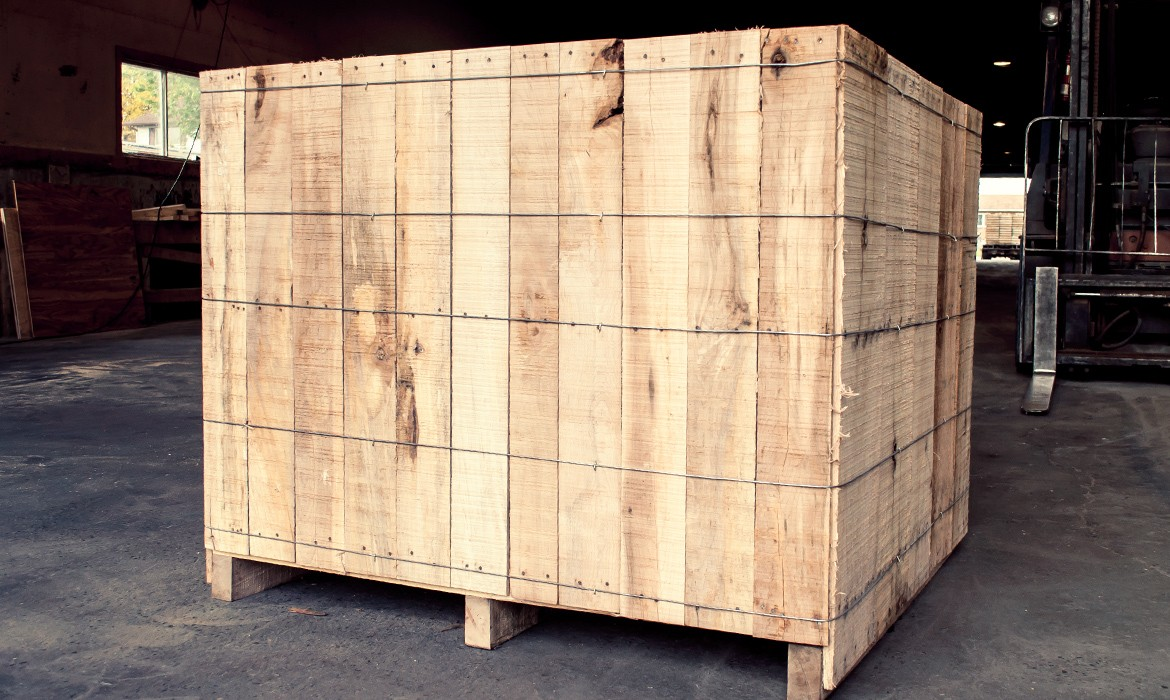 Wirebound Wooden Crates – Products – Laurentide Lumber Co.